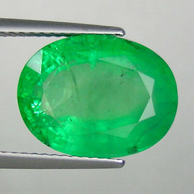 8.23 ct @ FINE QUALITY ZAMBIAN  MINED*  NATURAL EMERALD - OVAL CUT *See Vdo 2873