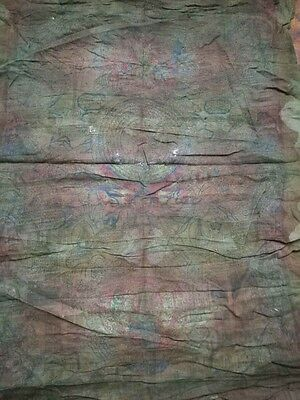 Antique Tibetan Buddhist Woodblock Print On Cloth