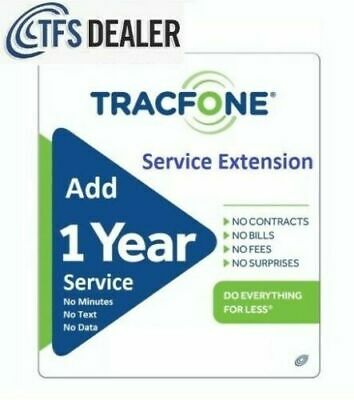 TracFone Service Extension 1 Year/365 Days. Support All Makers,Including BYOP