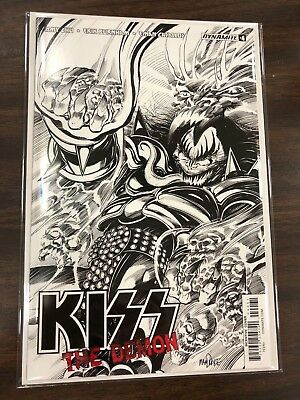 Kiss The Demon #4 Black and White Tom Mandrake Variant