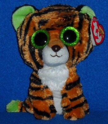 """TY BEANIE BOOS - STRIPES the 6"""" TIGER - MINT with MINT TAG - RARE RED TAG"""