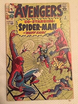 Avengers Comic #11 Spider-Man Marvel 1964