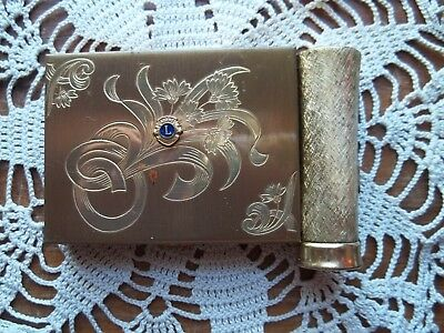 Vintage ZELL Fifth Avenue LIONS INTERNATIONAL Ladies Compact