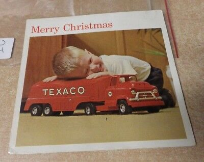Vintage Texaco Oil & Gas Advertising Christmas Card No Toy Til After Christmas