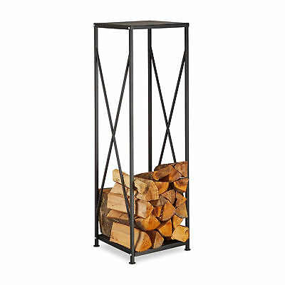 Firewood Rack, Steel Log Holder Stand, Stacking Aid, Wood Pile Storage
