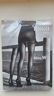 WOLFORD Pure 30 Complete Support Tights Size M Slightly Imperfect