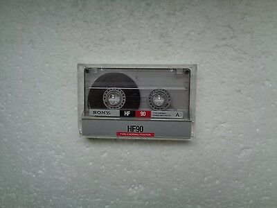 Vintage Audio Cassette SONY HF 90 From 1988 - Fantastic Condition !!
