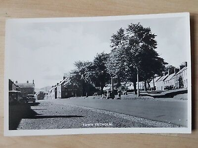 General View Of Town Yetholm, Kelso. Vintage Real Photo Postcard