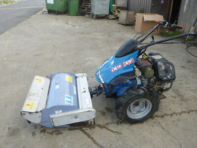 BCS 630 2 wheel tractor 28 inch flail mower Kohler 13hp engine needs  attention
