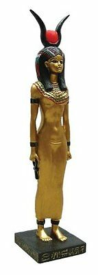 8.75 Inch Egyptian Isis Sculpture Figurine Ancient Egypt Goddess Ankh Statue