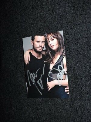 Jamie Dornan Dakota Johnson photo dedicace autograph format 10x15cm 50 nuances