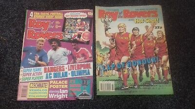 """2x Comics. """"Roy of the Rovers"""" from 1989 & 1990 in quite Good Condition. USED."""