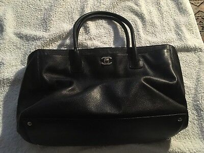 fdc14da57c89 Chanel Executive Tote Bag Black Caviar Leather, Large with Silver Trims