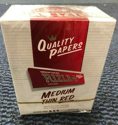 Full Box of 50 Booklets Rizla King Size Red Rolling Smoking Papers  Only £17.49