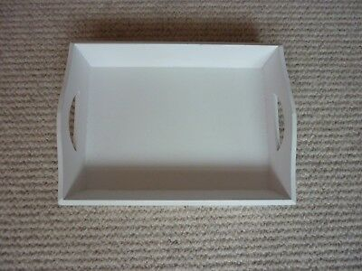 Shabby Chic Small White Serving Tray 9 x 7 inches Pre Owned