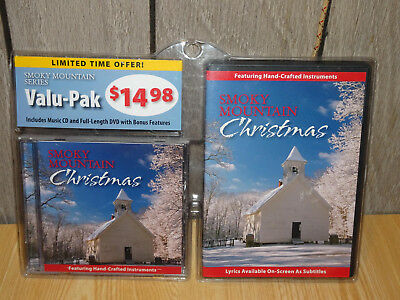 Smoky Mountain Christmas DVD CD Set - Hand Crafted Instruments -Scenes from Mtns