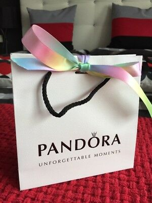 3e3248f85f Brand New Small Pandora Gift Bag And Pastel Rainbow Ribbon BNWT Gay Pride 🌈