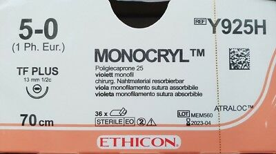 Monocryl Ethicon Nahtmaterial Poliglecaprone Glycomer suture sutura Chirurgie OP