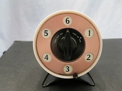 Kitchen Timer Dual VTG MCM Mark Time 60 / 6-min Mark Time Copper Color Face Body
