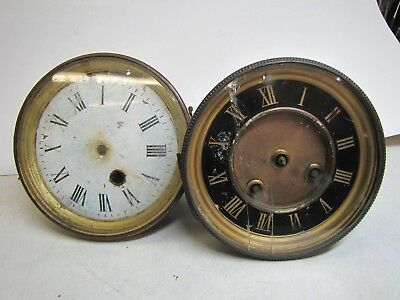 2 x Poor condition French Clock Movements