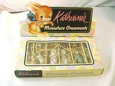 Fabulous MIB Katherine's Collection 6 Easter Rabbit Bunny Ornaments