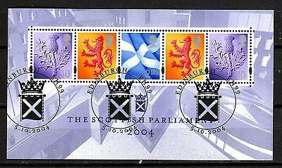 GB 2004 - Scottish Parliament - Mini Sheet - Very fine used