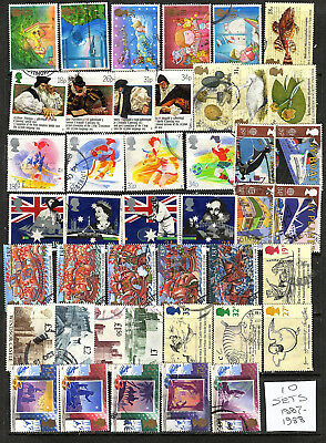 GB Collection of 10 USED sets from 1987 & 1988