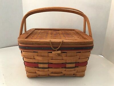 ⭐️⭐️LONGABERGER 1991 Crisco American Pie Celebration Basket w/ Divider ⭐️⭐️