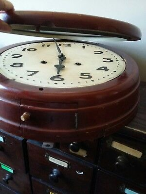 Vintage Old School Wind Up Chime Wall Clock