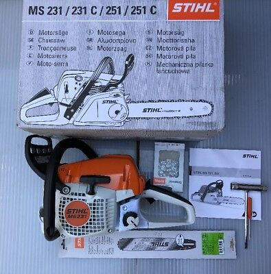Stihl MS231 Chainsaw With Blade And Chain Brand New