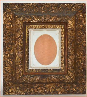 FANTASTIC WOOD & GESSO GOLD ORNATE FRAME EXCEPTIONAL EXAMPLE 1800s