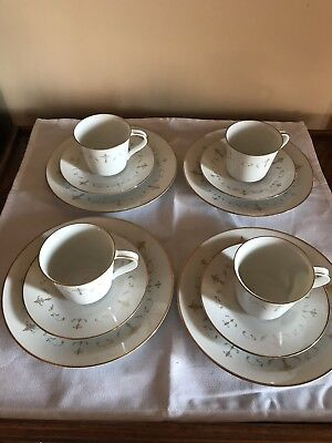 Noritake Courtney China Set of 4 Salad Plates, 4 Cups and 4 Saucers