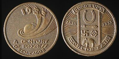 1933 Century of Progress World's Fair Good Luck piece