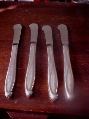 4 Reed & Barton Sterling Silver Butter Knives --/scrap Or No
