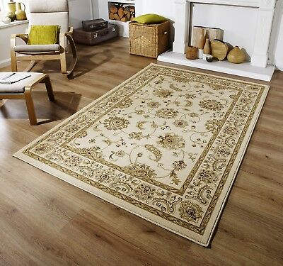 New Large - Extra Xl Large Beige Cream Soft Classic Traditional Area Rug