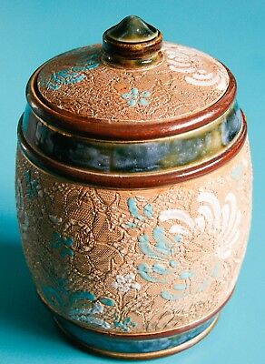 Royal Doulton Slaters Pattern Stoneware Tobacco Storage Jar