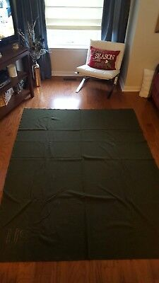 ORIGINAL US ARMY WWII OLIVE GREEN WOOL BLANKET 84 x 66  MILITARY FIELD GEAR 1