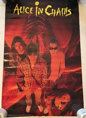 Authentic Alice In Chains Jar of Flies 1994 Promo Poster 22x34 Vintage Rare Oop