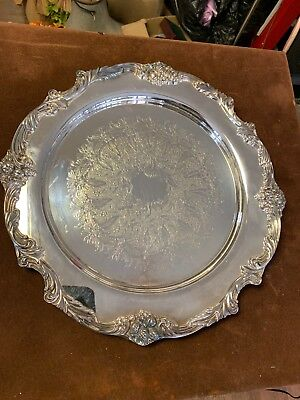 """Reed & Barton King Francis Silverplate Charger 15"""" Serving Platter"""