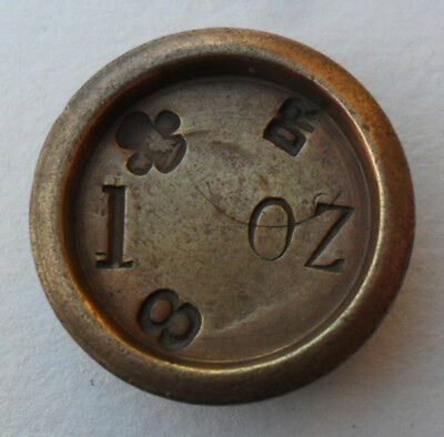 Antique Victorian Brass Weight - 1 oz (and 8 DR) - Liverpool