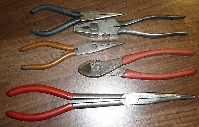 Job Lot of 5 x Good Quality Vintage Pliers Nips Snips etc