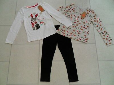Girls Tops & Leggings Christmas Bundle Age 6/7 Years New / VGC