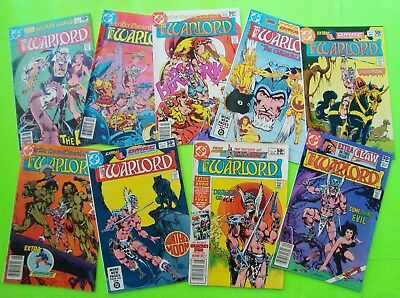 9 Issues 1981 ENTER THE LOST WORLD OF THE WARLORD #41 to #49 OMAC 8/9 = Xlnt