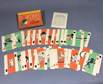 RARE Set Of Vintage Gypsy Fortune Telling Tarot Cards By Whitman