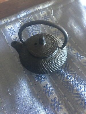 Mini Japanese Cast Iron Tea Pot Vintage