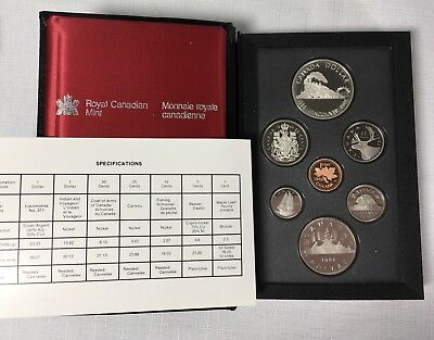 1986 Canada Double Dollar Proof Boxed Set Vancouver Centennial 50% Silver