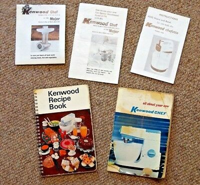 KENWOOD CHEF Recipe Book & All About plus INSTRUCTIONS