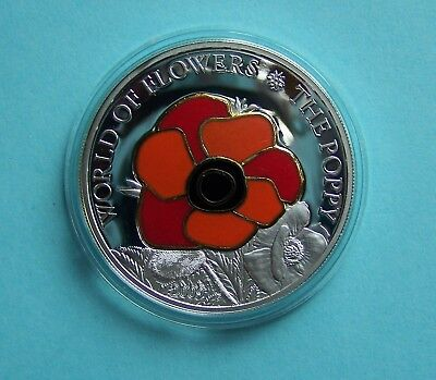 Cook Islands - 5$ -2009 - World of Flowers - The Poppy - silver
