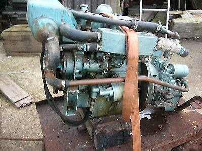 PERKINS 4107 MARINE diesel boat engine and gearbox narrow boat fishing yacht