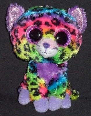 """TY BEANIE BOOS - TRIXIE the 6"""" LEOPARD - JUSTICE EXCLUSIVE - NO HANG TAG"""
